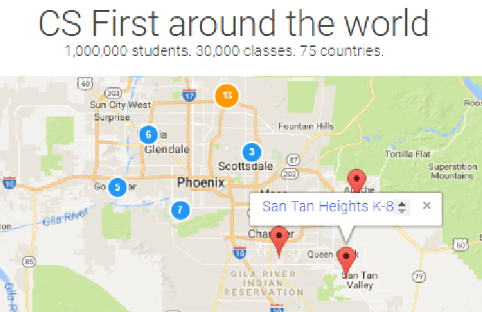 San Tan Heights K-8 First to Offer CS-First