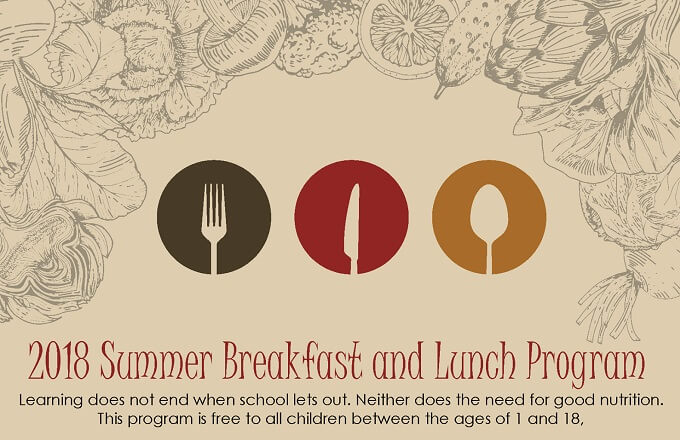 Free Summer Breakfast and Lunch Program