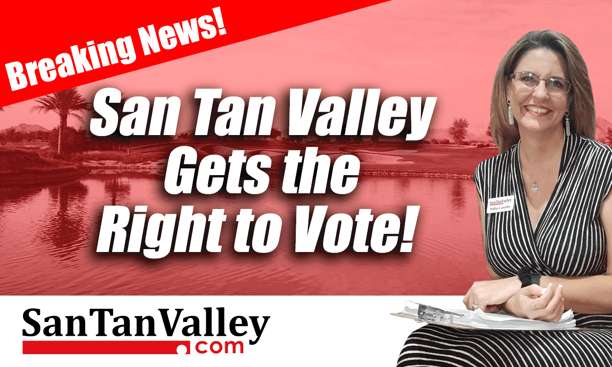 Governor Ducey Signs San Tan Valley Right to Vote Bill
